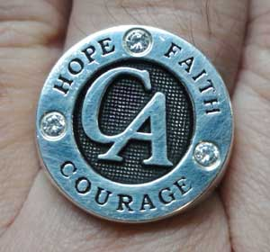 Cocaine Anonymous Sterling Silver Ring