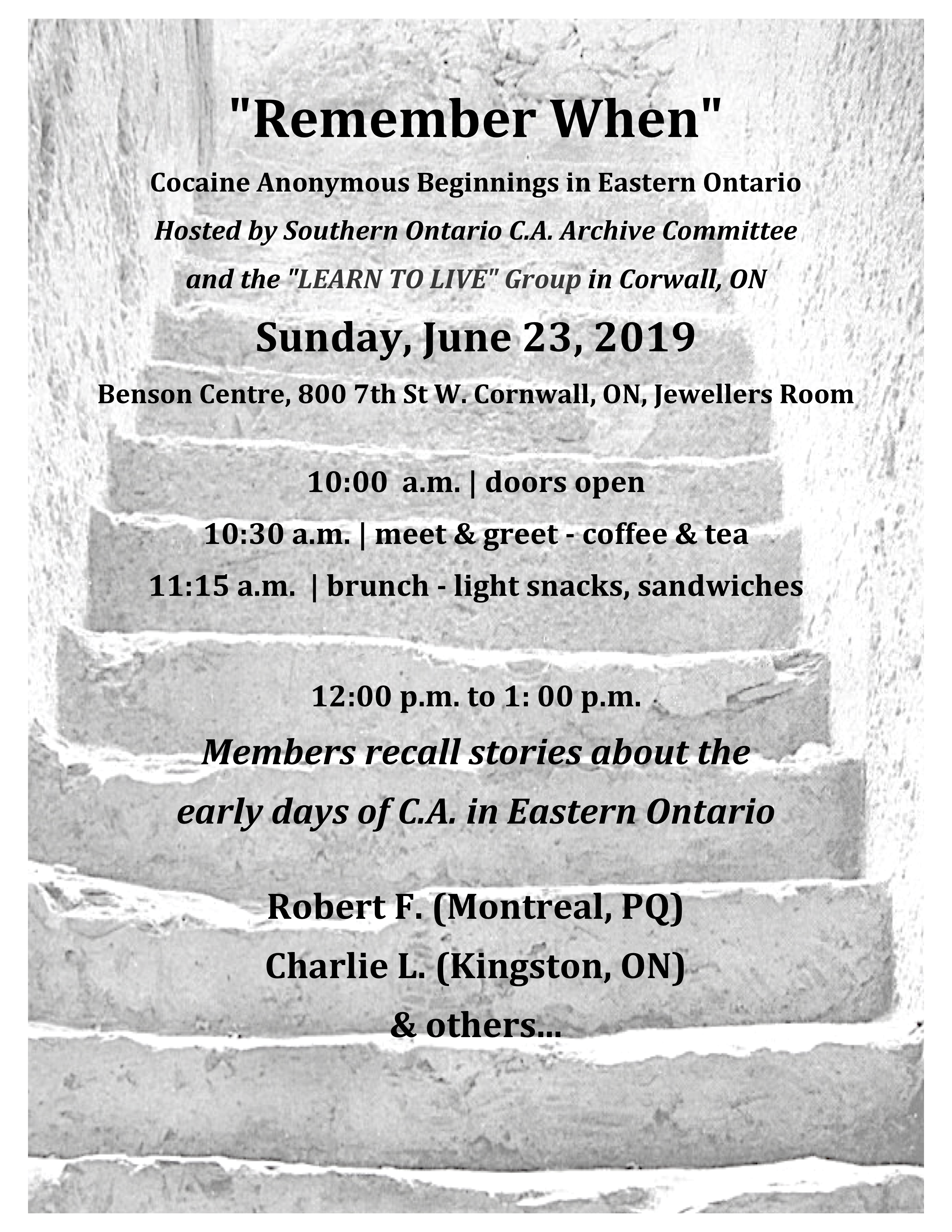 cocaine anonymous, cornwall, ontario archives